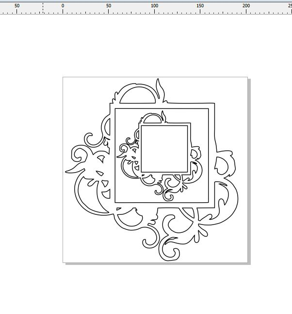 2 square flourish frames  200 x 200 min buy 3
